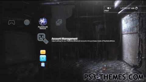 PS3 Themes » Heavy Rain Dynamic Theme