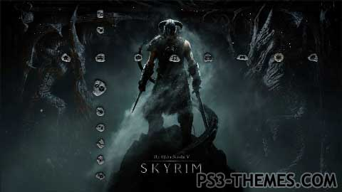 ps3 themes skyrim unofficial dynamic theme