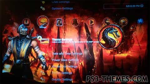 ps3 themes scorpion mk dynamic theme