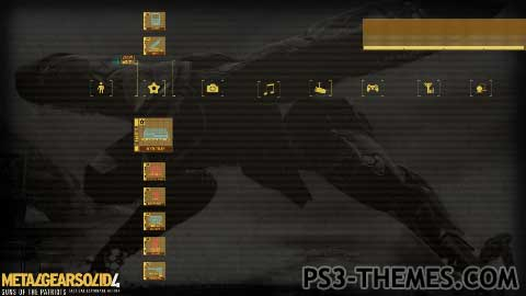 PS3 Themes » MGS4 Solid Snake Dynamic