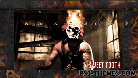 Ps3 themes twisted metal sweet tooth animated - Sweet tooth wallpaper twisted metal ...