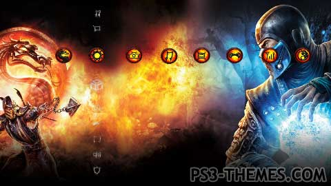 ps3 themes mortal kombat hd only