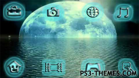 PS3 Themes » Moonlight Animated Theme