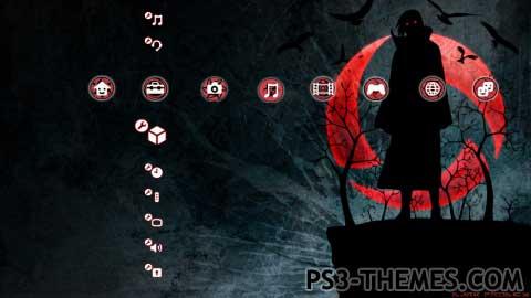 theme sharingan psp