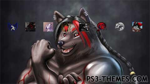 Black wolf furry - photo#26