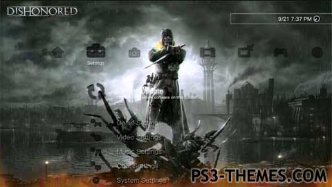 ps3 themes dishonored animated icons fixed