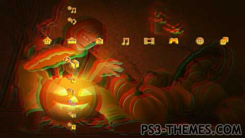 ps3 themes halloween 3d slide show theme
