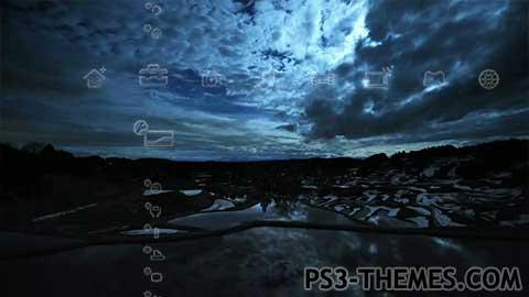 ps3 themes dynamic blue night theme