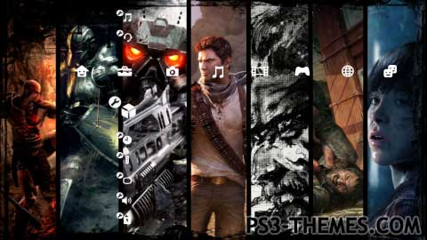 PS3 Themes » PS3 Exclusive Games SlideShow Theme