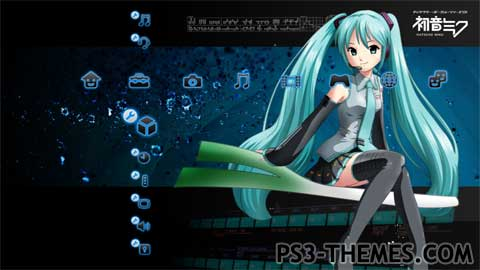 ps3 themes hatsune miku ps3 theme. Black Bedroom Furniture Sets. Home Design Ideas