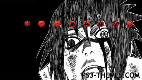 PS3 Themes Sasuke Mangekyou Sharingan