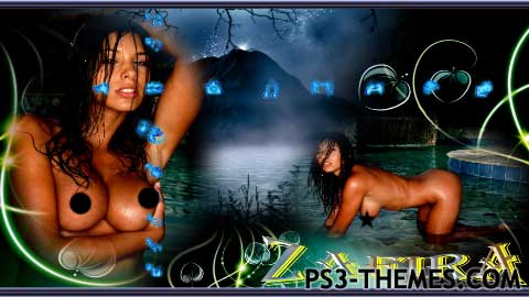 Free ps themes of naked girl, spread eagled cheerleader